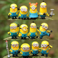 Wholesale 2016 New Cheap Toy Set Set Despicable Me Minions in Action Figures Minions Toys Doll Retail Lovely Plush Toys Girls Gifts MYF242