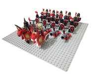 Wholesale 24pcs Castle Knight Lion dragon sliver hawk knights Army with weapon horse minifigure nelegokin Building Block Brick accessory mini figures