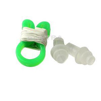 Wholesale 2014 New pair Waterproof Soft Silicone Swimming Accessories Brand Swimming Nose Clip Mushroom Ear Plug Set