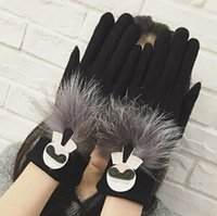 Wholesale NEW Women Winter Warm Drive a car Gloves Five Fingers Gloves For Big Girl Warm Nice Fashion Glover Korean Glover B1B59