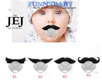 Wholesale 100pcs New Arrival Hot Funny Black Infant Baby Kid Child Pacifier Orthodontic Nipples Dummy Mustache Beard