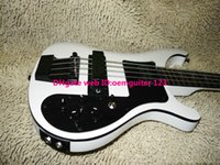 Wholesale BASS Guitars Newest White strings Electric Bass Black Hardware two jack input high quality hot