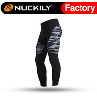Wholesale Nuckily Mens hight quality reflective zip at ankle tights best selling cycling long tight for men MD001
