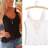 Women Solid Lace Brand Design 2015 Summer Women Sleeveless Tank Top Lace Patchwork Bodycon Vest Shirt Casual Cotton Camisole S-XL blusa de renda