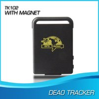 Cheap Free shipping Mini GPS GSM GPRS Car Vehicle tk102-2 Tracker tk102 TK102B with usb cable Realtime tracking device A5