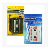 Wholesale 2015 New transmitter Hot Car Tape Cassette to mm Aux Audio Adapter for iPhone iPad Samsung MP3 MP4 Player with retail box Free china post