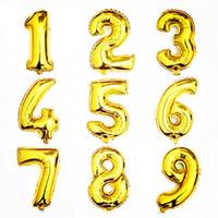 Acheter Numéro de couleur or-Free DHL Foil Ballons Numéro 0 à 9 Or Argent Option Couleur Meilleur Anniversaire de mariage Fête Nouvel An Décoration pcs E466L