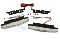 Cheap Fashion Cool Style 8 LED White Daytime Driving Running Light Fog Lamp Front Bumper Grille Side Light Bar DRL for Car Truck