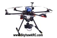 Wholesale-SkyhawkRC F750 Hexacopter RC cabon fibre drone photographie aérienne UAV drones avion professionnel hobo multirotor modèle à distance