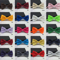 Wholesale 50PCS New Formal Commercial Bow Tie Male Solid Color Marriage BowTies for Men Candy Color Butterfly Cravat Bow ties Butterflies