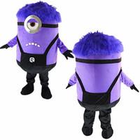 Angry alta qualità Cattivissimo me minion mascotte costume viola del vestito operato formato adulto x'mas partito il trasporto libero