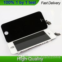 Cheap 100% new High quality LCD Display Replacement touch Screen Digitizer Assembly for iphone 5,black white free shipping PM-5
