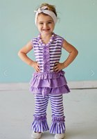 capri pants for girls - 2015 girls ruffle capri pants top sets outfits for toddler kids boutique clothes remake baby girls clothing sets