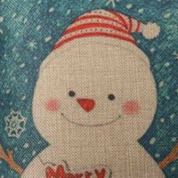 ambience lights - Christmas Series Home Textile Linen Cotton Pillow Cases Xmas Ambience Decorative Square Pillow Cover With Zipper