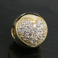 14k real gold - 100 K Real Gold Love of my Life Charm Bead with Clear Cz Fits European Pandora Jewelry Bracelets Necklaces