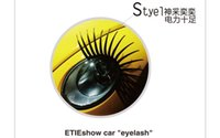 Wholesale New arrival Car lashes D Automotives Eyelash car eyelashes creative gifts pair
