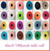 Wholesale 26 Colors Pick Christmas Wedding Tulle Roll inch yard Tulle Roll Spool Fabric Tutu DIY Skirt Gift Craft Party Bow Tulle