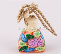 air craft carriers - 100pcs Craft Car Perfume Bottle Hanging Cute Air Freshener Carrier Home Fragrance Polymer Clay Bottle