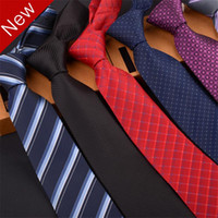 Wholesale 2PCS New Men Classic Business Casual Bridegroom Dot Striped NeckTies with Box