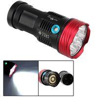 Wholesale SkyRay x Cree XM L T6 LED Mode W Hunting Flashlight LM Flash Light Lantern T6 Waterproof Torch by x18650 Battery