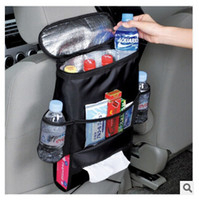 Wholesale NEW Insulation Work Style Auto Car Seat Organizer Sundries Holder Multi Pocket Travel Storage Bag Hanger Backseat Organizing Box TOP761