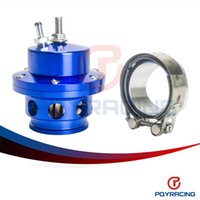 Wholesale PQY STORE NEW BLUE ADJUSTABLE MM BLOW OFF VALVE HIGH QUALITY BOV MM WITH VBAND AND ADAPTER PQY5725
