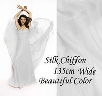 gorgeous fabrics - Solid Color Bright White Gorgeous Pure Silk Soft Sheer Chiffon Fabric momme for By The Meter Yard inches alpc