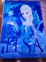 Wholesale best price Frozen Elsa Raschel Blanket frozen Dairy queen elsa adventures Frozen anime raschel blankets IN STOCK