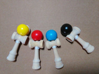 Wholesale 2000pcs cm pu Paint Kendama Ball toy Skillful Jling Game Ball Japanese Traditional Toy Balls Educational Toys DHL