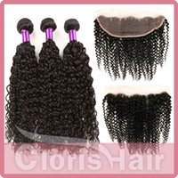 human hair premium now - Premium Now Afro Kinky Curly Virgin Brazilian Human Hair Weave Bundles with Lace Frontal Closure x4 Cheap Sensational Kinky Curly Frontals