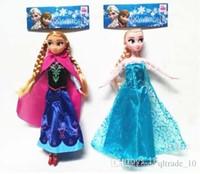 Cheap Frozen Dolls 11.5 inch Elsa Anna Toy Doll Action Figures Vinyl Frozen Doll Frozen Toy Kids Gift Frozen Doll Toy Vinyl Doll LJJE153 360pc