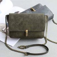 best chain locks - 1 Piece Latest Women Shoulder Bag Fashion Accessories Simple High Quality Leather Vintage Pure Color Hasp Messenger Bag Hand Bag Best Gift