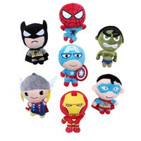 avengers videos - 2015 New Anime cm Super Heros Captain America Iron Man Batman Spiderman Thro Batman Superman Plush Doll Stuffed Toys avengers plush