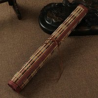 bamboo painted curtains - Four Treasures Brush Pens Holder Calligraphy Painting Curtain Bamboo