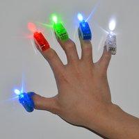Wholesale 2015 Lighting finger LED light laser finger beam finger ring laser lights colors with good opp bag