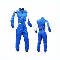 Wholesale red blue white black kart racing wear Double jumpsuit kart race suits one Siamese piece racing suit J14501