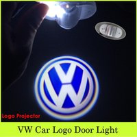 volkswagen car pc - 2 Car By Car LED Laser Welcome Door Light Ghost Shadow Lamp For VW Volkswagen Emblem Projector Logo Car Accessory Super Cool