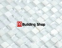 Wholesale Stained glass mosaic stone backsplash tile kitchen glass tiles SGMT135 glass and stone mosaic bathroom wall tile floor tiles