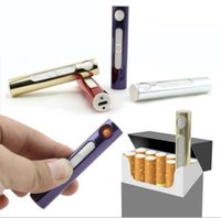 electric gas - New Metal Rechargeable USB Cigarette Flameless Lighter Windproof No Gas Electric