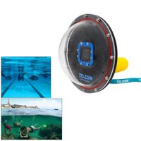 Wholesale TELESIN quot Dome Port Underwater Photography Shell and Dome Port Transparent Cover For GoPro HD Hero
