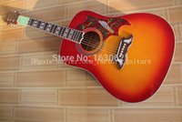 Wholesale 2015 New Guitar Factory CS Chibson DOVE acoustic guitar DOVE electric acoustic guitar Cherryburst finish in stock