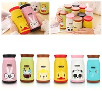 Wholesale New ml Lovely Animal Cartoon Stainless Steel Vacuum Cup Travel Mug Thermos Bottle
