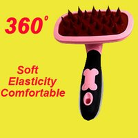 balls hair products - New Sale Products For Animals Pet Shop Cats And Dogs In The Brush Comb Hair Silicone Elastic Ball Take A Shower Massage Pet