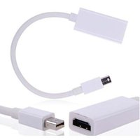 Wholesale Mini DisplayPort DP To HDMI Adapter Cables Wiht Retail packaging AAAA Quality Free DHL