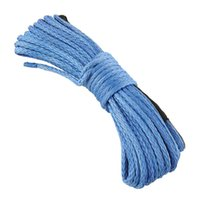 Wholesale New Hot x3 quot Dyneema Synthetic Winch Rope LB Blue For ATV KFI Vehicle Car towing winch rope freeshipping