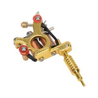 Wholesale GS100 Fashion Mini Gun Tattoo Machine cool Pendant Toy with Chain Golden Hot Selling New Quality