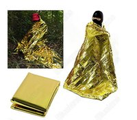 Wholesale 10 Disaster Response Tools outdoor Insulation Blanket Emergency Survival Rescue Blanket Foil Thermal