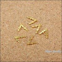 Cheap 400PCS chram clock hands Pendant gold color Zinc Alloy Fit Bracelet Necklace DIY Metal Jewelry Findings 60017