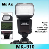 Wholesale TTL s HSS Meike MK Flash Speedlite for Nikon SB910 SB900 D7100 D7000 D800 D600 VS Yongnuo YN ex ii