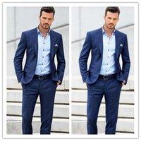 Wholesale handsome new design Best New Light Groom Tuxedos Groomsmen Custom Made Slim Fit Man Suit Bridegroom slimfit blazers women men s suits